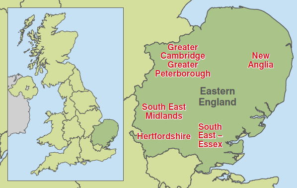 Map - Eastern England