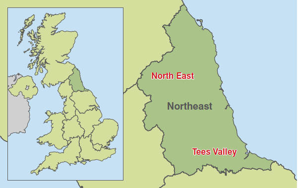 Map - North East