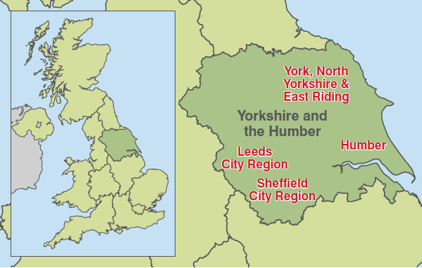 Map - Yorkshire Humber